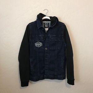 Metal Mulisha Jean jacket with sweater sleeves